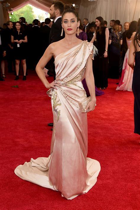 Awards Galas Crowd Pre Globes Weekend by Met Gala Well Played Lizzy Caplan In Donna Karan Go Fug