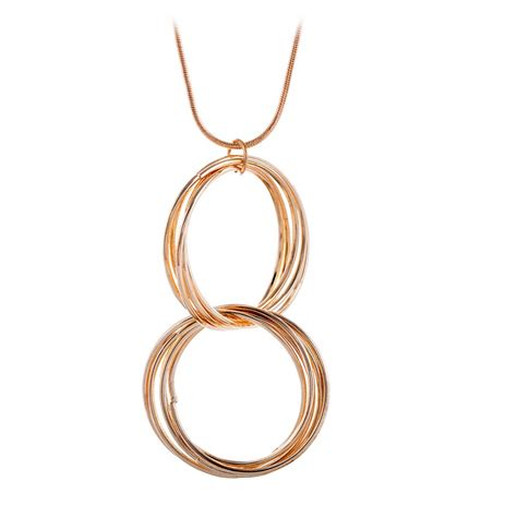 Kalung Weave Hoop Circle Pendant aliexpress buy new fashion gold tone metal multi weave hoop circle pendant necklace