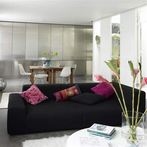 black and pink living room modern metallic living room living romo furniture decorating ideas housetohome co uk