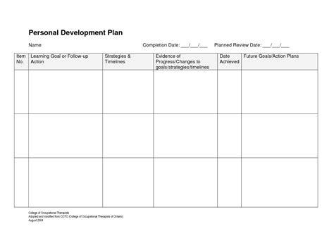 brilliant ideas of doc personal development plan template