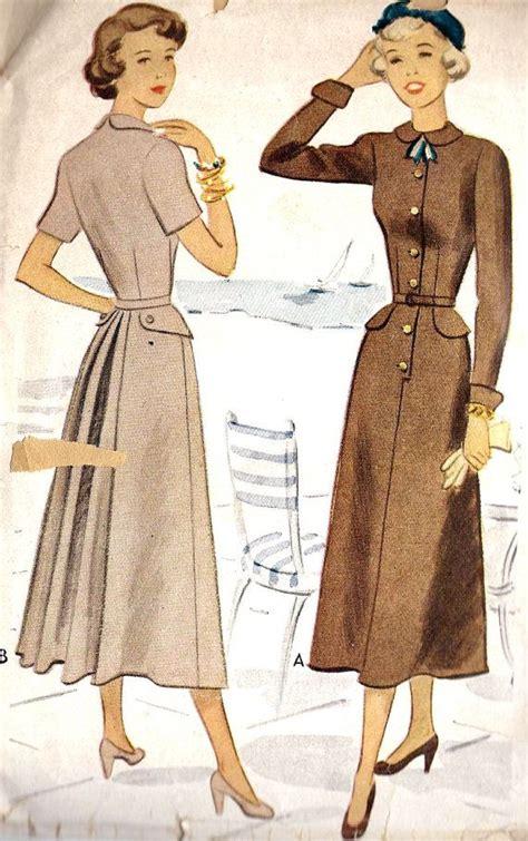 dress pattern etsy 1940s dress pattern via etsy patterns pinterest