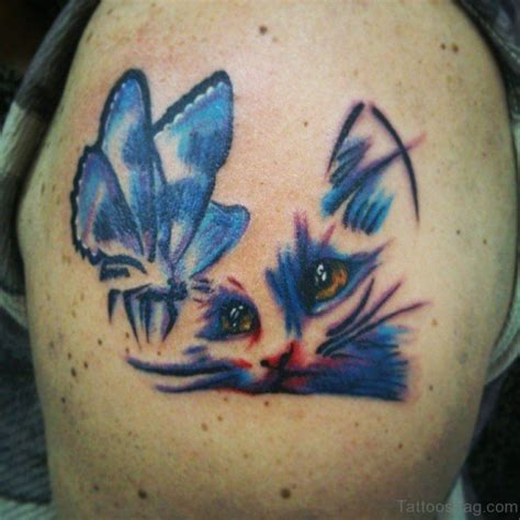 cat tattoo on shoulder 77 wonderful cat tattoos on shoulder