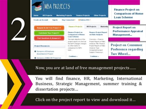 Mba It Projects Free by Mba Project Reports Free Reports In Hr