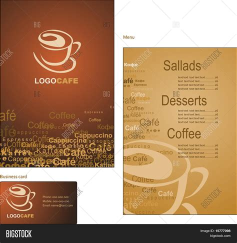 design a coffee shop menu layout from scratch with photoshop and indesign template designs menu business vector photo bigstock