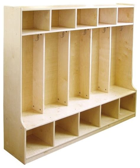 5 section coat locker with bench modern benches by