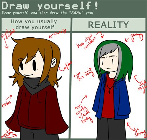 doodle draw yourself draw yourself meme by ineedacow on deviantart