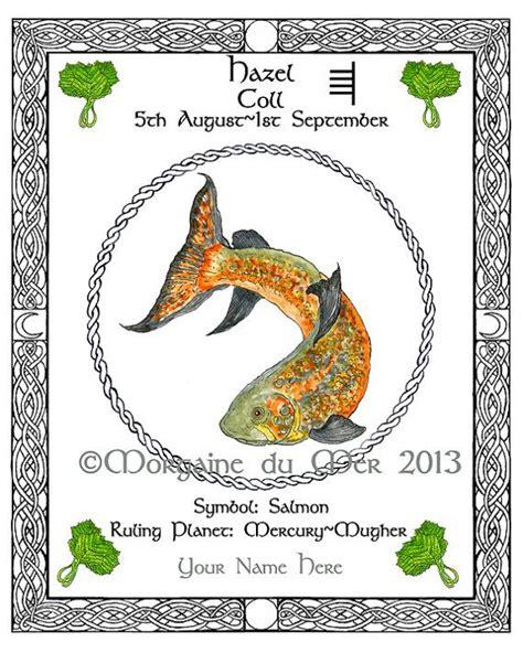 Celtic Tree Calendar Salmon Hazel Celtic Tree Calendar Lunar Zodiac By