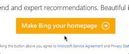 Make bing my homepage how to change homepage settings