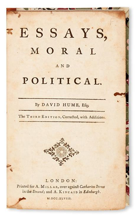 David Hume Essays by David Hume Essays Moral Political And Literary Sparknotes