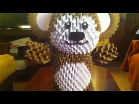 origami 3d oso tutorial oso en origami 3d youtube