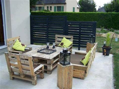patio furniture made with pallets what s more creative than patio furniture made out of