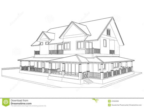 home design drawing sketch design of house vector stock vector image 41952938