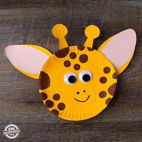 Giraffe Paper Plate Craft - paper plate giraffe craft