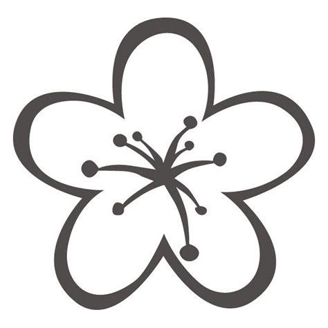 flores de 5 petalos para imprimir petalos d flor para colorear imagui