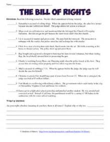 bill of rights scenarios analysis worksheet by students of
