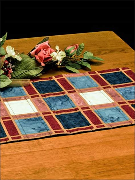 free easy quilting patterns make mine plaid table runner