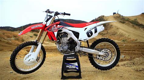 best 450 motocross bike first ride 2016 honda crf450 motocross action magazine