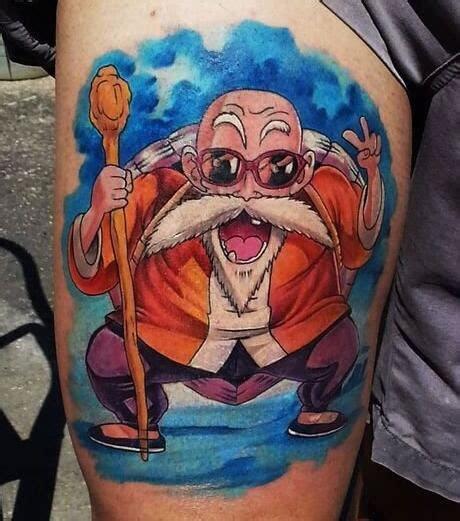七龙珠纹身图案 大腿部七龙珠龟仙人纹身图片 纹身图案