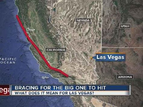 earthquake las vegas how would a california earthquake affect las one news