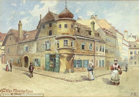 hitler house painter artwork by adolf hitler up for auction in nuremberg germany daily mail online