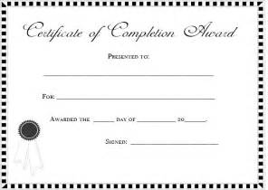 blank certificate of completion templates free doc 900662 certificate template blank doc13001095