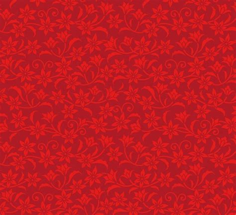 Red Pattern Background Vector | free red flower pattern background vector titanui
