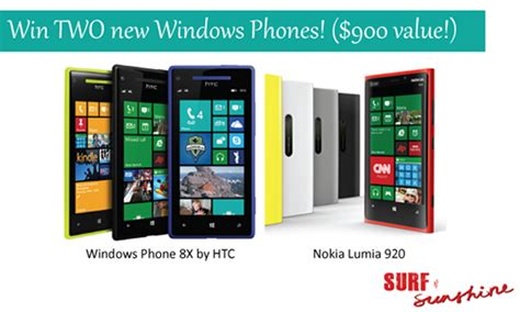 Android Phone Giveaway - giveaway win 2 new windows phones 900 value coupons and freebies mom