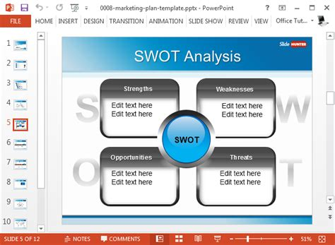Best Swot Powerpoint Templates Marketing Strategy Template Ppt