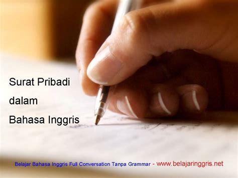 Surat Pribadi Dalam Bahasa Inggris Belajaringgrisnet | surat pribadi dalam bahasa inggris belajaringgris net