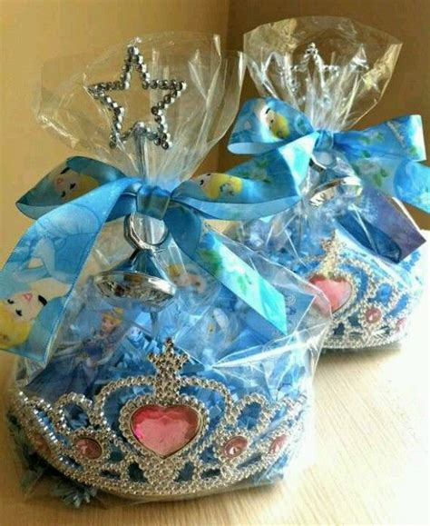 Princess Giveaways - royal ball princess party favors wrap small favors in a crown with cellophane so