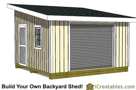 14x14 Shed Plans by 14x20 Lean To Shed Plans Easy To Build Large Shed Plans