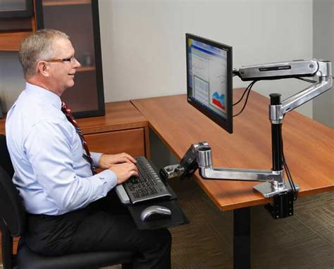 Lx Hd Sit Stand Desk Mount Lcd Arm Single Monitor Stands And Desk Mounts Reviews