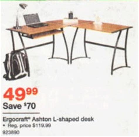 Ashton L Shaped Desk Black Friday Deal Ergocraft Ashton L Shaped Desk