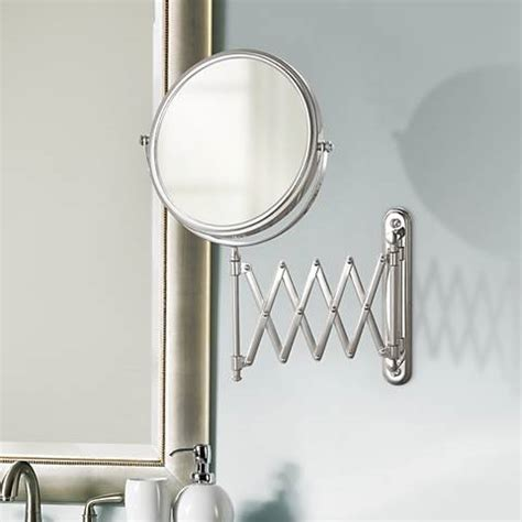 aptations chrome swing arm vanity mirror 50809 www round wall mirrors ls plus