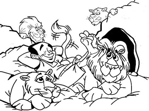 printable coloring pages daniel and the lions den daniel and the lions den coloring pages 50 image