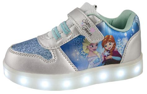 Led Shoes Glitter Pink disney frozen led light up trainers usb elsa