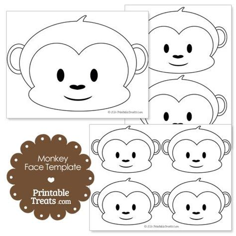 monkey birthday cake template printable monkey template jansen s 1st bday