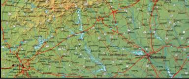 map of carolina and the surrounding region