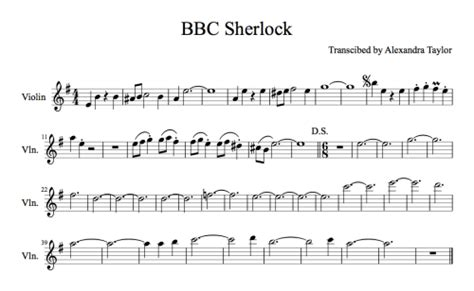 theme music sherlock holmes tv series sherlock sheet music tumblr