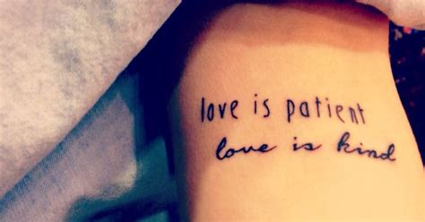 love is patient love is kind tattoo 1 corinthians 13 quot is patient is