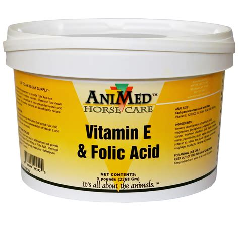 Vitamin Folic Acid animed vitamin e folic acid 5 lb