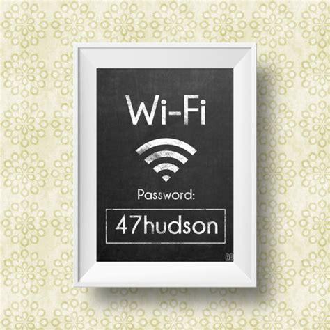 Guest Bedroom Wifi Sign Wifi Password Wifi Password Printable Wifi Password Sign