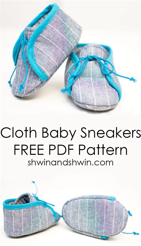 baby clothes and shoes cloth baby sneakers free pattern shwin and shwin