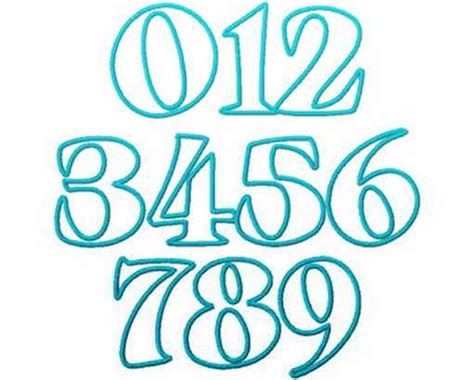 Cool Graffiti Fonts Numbers