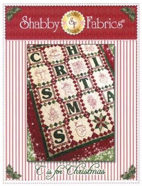 c is for christmas shabby fabrics 48640