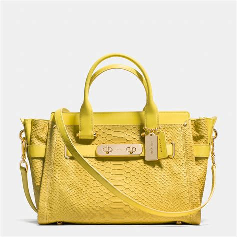 bags and lights for baggers coach satchels bags yellow light