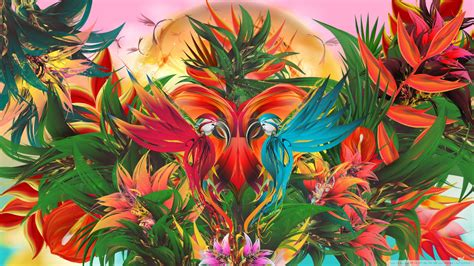 abstract jungle pattern abstract tropical jungle paradise illustration hd