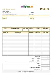 Past Due Invoice Template by Free Invoice Templates For Excel