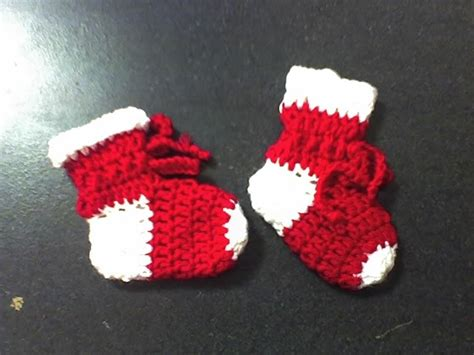 crochet pattern for baby christmas stocking deb s crafts christmas stocking baby booties free crochet