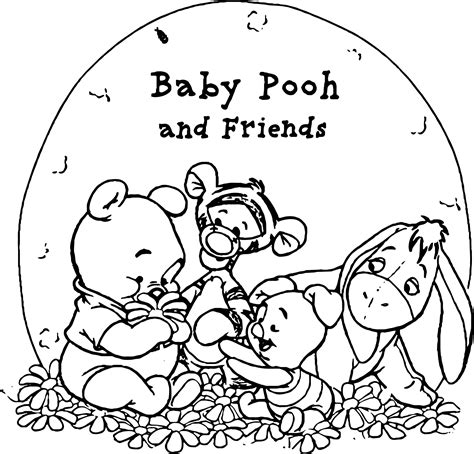 baby winnie the pooh friends pooh wallpaper baby pooh and his friends coloring page